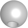 Aluminum Ball Knob - Reamed - 6 mm -- 06247-350123
