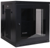 SmartRack 12U Low-Profile Switch-Depth Wall-Mount Rack Enclosure Cabinet with Clear Acrylic Window, Hinged Back -- SRW12USG -- View Larger Image