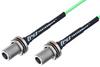 N Female Bulkhead to N Female Bulkhead Low Loss Cable 36 Inch Length Using PE-P160LL Coax -- PE3C5256-36 -Image