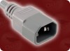 IEC-60320-C14 GREY to IEC-60320-C13 RIGHT ANGLE GREY HOME • Power Cords • IEC/Jumper Power Cords • International -- 3515.010 -Image