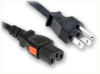NEMA 5-15P to IEC-60320-C15 AUTO-LOCK HOME • Power Cords • North American Power Cords • Auto-Lock® Power Cords -- 5032.024AL -Image