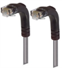 Category 5E LSZH Right Angle Patch Cable, Right Angle Down/Right Angle Down, Gray, 7.0 ft -- TRD815ZRA3GRY-7 -Image