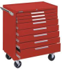 Rolling Cabinet,34x20x40 In,8 Drawer,Red -- 13R645