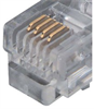 Flat Modular Cable, RJ11 (6x4) / Tinned End, 14.0 ft -- TDC019-14 -Image
