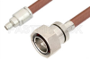 SMA Male to 7/16 DIN Male Cable 12 Inch Length Using RG393 Coax, RoHS -- PE36163LF-12 -Image