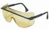 Uvex Astro OTG 3001 Polycarbonate Over The Glass (OTG) Safety Glasses Amber Lens - Black Frame - 603390-021169 -- 603390-021169