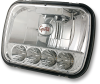 """Grote 90951-5 5"""" x 7"""" LED Headlight HI/LOW Beam, H4, 3 Blade -- 47873 -- View Larger Image"""