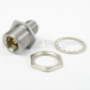 SMA Female (Jack) to BMA Jack Bulkhead Adapter, Passivated Stainless Steel Body, 1.15 VSWR -- SM3296 - Image