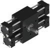 Dual Rack Three Position Rotary Actuator -- A12-3P -Image