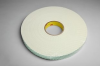 3M 4116 White Single Sided Foam Tape - 3/4 in Width x 36 yd Length - 1/16 in Thick - 03401 -- 021200-03401 -- View Larger Image