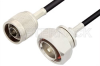 N Male to 7/16 DIN Male Cable 60 Inch Length Using RG223 Coax, RoHS -- PE33144LF-60 -Image