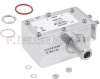 Type N F/F In/Out Coaxial RF Surge Protector, 40MHz - 400MHz, DC Pass, 100W, IP67, 20kA, Hybrid, Bracket Toward Body, Stud -- FMSP1018