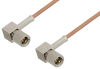 10-32 Male Right Angle to 10-32 Male Right Angle Cable 24 Inch Length Using RG178 Coax -- PE36534-24 -Image