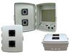 14x10x04 ABS Plastic Indoor IP54 NEMA 12 Enclosure, Hook & Loop Mounting, Vent Lid & 48 VDC PoE outlets Gray -- TEP141004-40V -Image