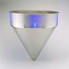 Stainless Steel Seamless Hopper Funnel, 25.7 Gal., 24