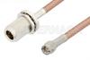 SMA Male to N Female Bulkhead Cable 18 Inch Length Using PE-P195 Coax -- PE34178-18 -Image