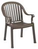 Armchair,Highback,Stacking,Bronze Mist -- 6DVJ7