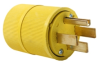 Pass & Seymour® -- Gator Grip Plug, Yellow - 1451 - Image