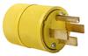 Pass & Seymour® -- Gator Grip Plug, Yellow - 1451