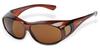 Safety Glasses Over Glasses: ANSI Z87+, brown lens, brown frame -- SG-3115