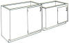 Standard Steel Laboratory Cabinet, Hidden Corner Cabinet w/ Door Only -- 100-SP Series - Image