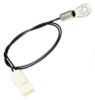 500 Series surface temperature probe, NTC, 10,000 Ohm, ±0,1 °C [0.18 °F] tolerance, 28 °C to 39 °C [82 °F to 102 °F] accuracy, epoxy filled, bullet housing, lead wir -- 592-39CD04-103