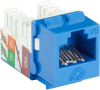 Blue CAT6A Keystone Jack Unshielded RJ45 -- C6AJA70-BL-R2-25PAK -- View Larger Image