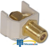 Hubbell Snap Fit Connector, F-Type Coupler Gold Bulkhead.. -- SFFG
