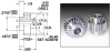Style B Cluster Gears (inch) -- S1F94Z-B080S060 -Image