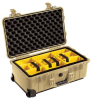 Pelican 1510 Carry On Case with Yellow Padded Dividers - Desert Tan | SPECIAL PRICE IN CART -- PEL-015100-0040-190 - Image