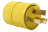 Pass & Seymour® -- Gator Grip Plug, Yellow - 1051
