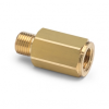 """1/8"""" female BSPT (ISO 7/1) x male Quick-test, no check-valve, brass -- QTHA-1FB0-RT -- View Larger Image"""