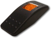 Carling Technologies VVAEB00-000 Contura II Switch Actuator, Plastic, Black with Amber Lens -- 44353 - Image