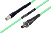 Temperature Conditioned SMA Male to SMA Female Bulkhead Low Loss Cable 60 Inch Length Using PE-P142LL Coax -- PE3M0127-60 -Image