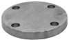 Blind Flange,1-1/2 x 5 In,Black Iron -- 4KWN8 - Image