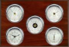 Professional, Chrome cases, Silver dials, Mahogany panel