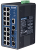 16+2G Combo Port Gigabit Managed Redundant Industrial Ethernet Switch -- EKI-7656C-AE - Image