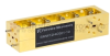 10 dB WR-12 Waveguide Broadwall Coupler with UG-387/U Round Cover Flange and H-Plane Coupled Port from 60 GHz to 90 GHz in Brass Copper -- SMW12HC001-10 - Image
