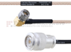 RA SMA Male to TNC Male MIL-DTL-17 Cable M17/113-RG316 Coax in 24 Inch -- FMHR0097-24 -Image