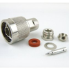 N Male Connector Clamp/Solder Attachment For RG55, RG58, RG141 Cable