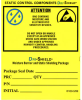 "Moisture and ESD Label 4"" x 4"", -- #DRILABEL -- View Larger Image"