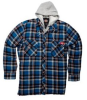 Dickies D4126GB-XL Hooded Fleece Lined Quilted Shirt Gulf -- SHIRTFLELINBLUXL