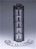 81450001 - Keck Sieve Shaker Kit, stainless steel screens, acrylic cylinders, ABS frame -- GO-59978-10