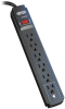 Protect It! 6-Outlet Surge Protector, 15 ft. Cord, 790 Joules, Black Housing -- TLP615B