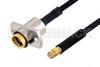 Slide-On BMA Jack 2 Hole Flange to SMP Female Cable 12 Inch Length Using PE-SR405FLJ Coax -- PE3C4867-12 -Image