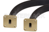 WR-51 Seamless Flexible Waveguide 12 Inch, Square Cover Flange Operating from 15 GHz to 22 GHz -- PE-W51SF005-12 -Image