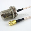 N Female Bulkhead to SMB Plug Cable RG-316 Coax in 120 Inch -- FMC1116315-120 -Image