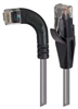 Category 5E Right Angle Patch Cable, Straight/ Right Angle Left Exit, Gray, 5.0 ft -- TRD815RA6GRY-5 -Image