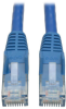 Cat6 Gigabit Snagless Molded Patch Cable (RJ45 M/M) - Blue, 10-ft. -- N201-010-BL - Image