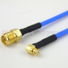 SMA Female to RA SMP Female Cable FM-F086 Coax in 36 Inch -- FMC1321085-36 -Image